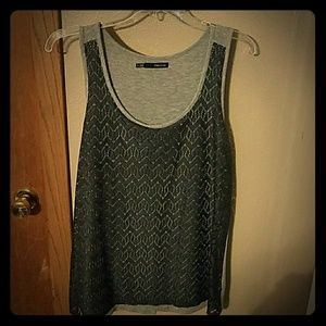 Lace front tank top